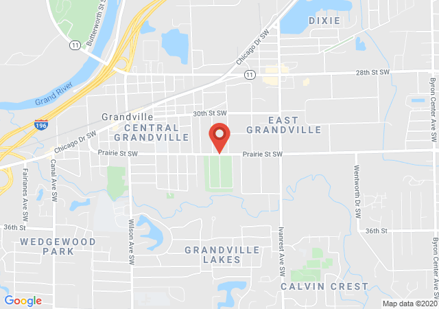 Google map image of Prairie ST. SW., Grandville, MI. 49418, USA