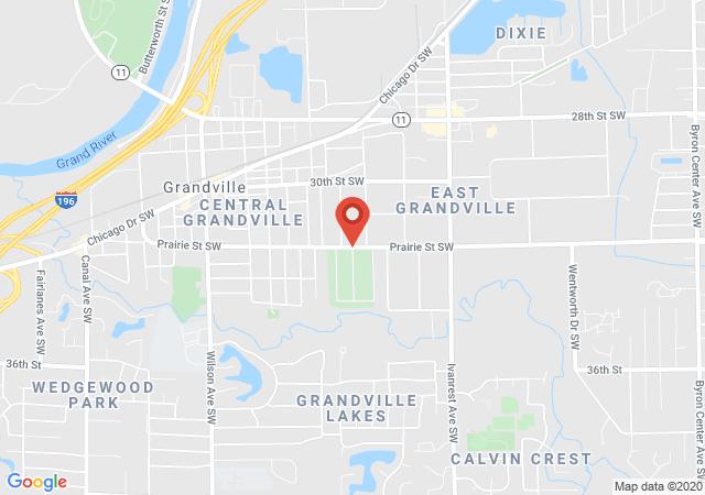 Google map image of Prairie ST. SW., Grandville, MI. 49418, USA